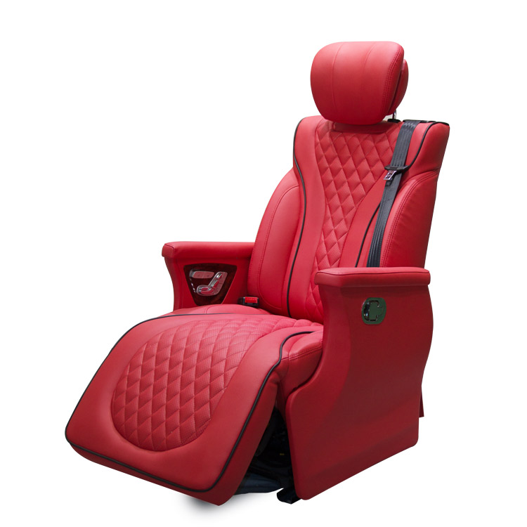 RA-L070 Leather Car Seat with Motorized Footrest for VITO